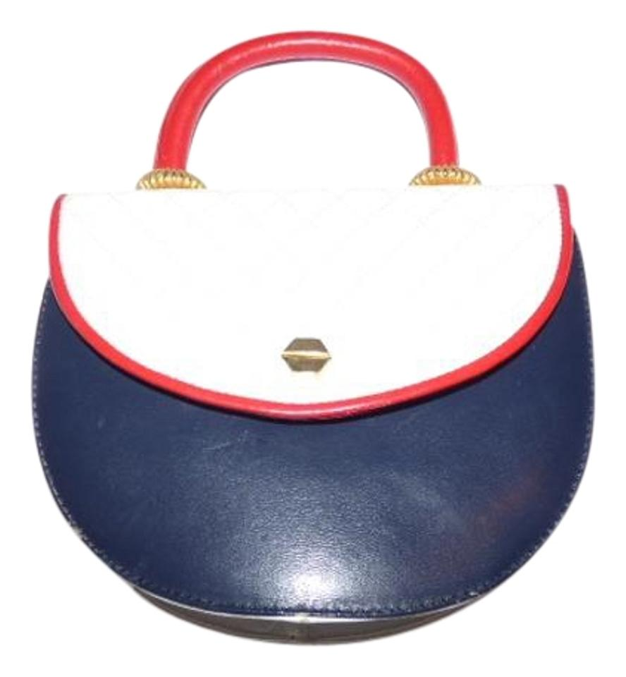 Vintage Designer Pursesdesigner Purses Red White Blue Quilted And