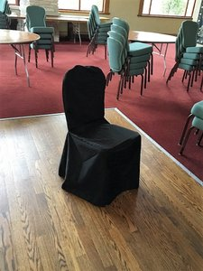 Black Banquet Chair Covers Reception Decoration