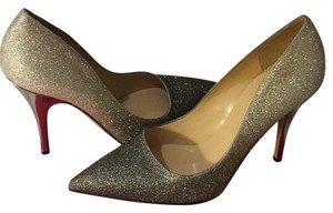 Kate Spade Silver Pewter Glitter Pumps