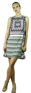 W118 by Walter Baker A-line Sheer Date Abstract Print Dress
