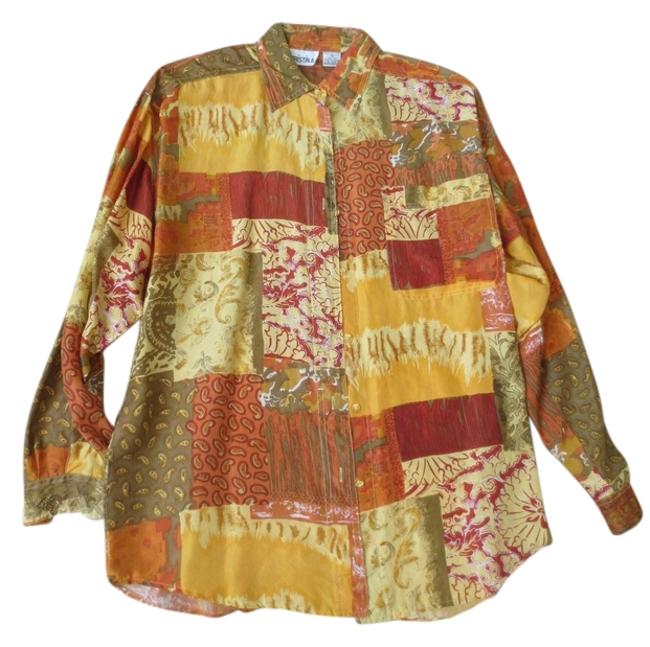Other Button Down Shirt Gold/multi