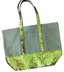 Gap Sequin Fall Large Tote in green