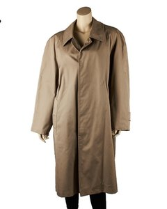 Burberry Vintage Tan Cotton Trench Coat