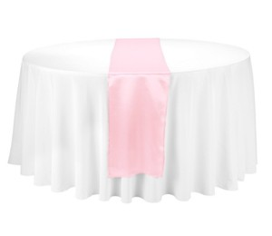 Light Pink Table Runners Reception Decoration
