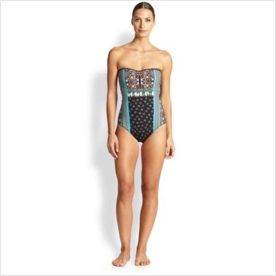 1d4a8bfee29f9 free shipping Printed Sweetheart Shells Buttons Swimsuit Size 12 59% Off  #19820911 - One