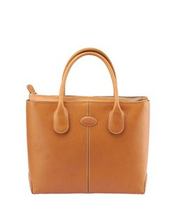 Tod's Tan Leather Tote Shoulder Bag