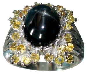 Other Sterling Silver Tourmaline, Citrine Gemstone Ring
