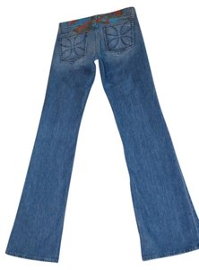 Habitual Size 28 Koi Rocks On Embroidered Boot Cut Jeans-Medium Wash