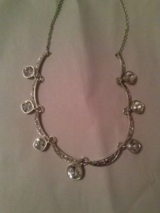Trifari Crystal Drop Station Necklace