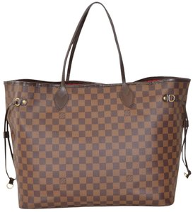 Louis Vuitton Shopper Shoulder Tote in Brown