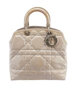 Dior Christian Cannage Tote in Gray