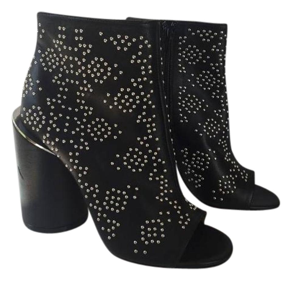Givenchy Black Studded Ankle Boots Booties Size US 6 Regular (M 79845174a9ff