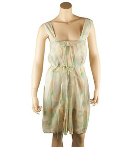 Stella McCartney short dress Multi/Print Green Cotton on Tradesy
