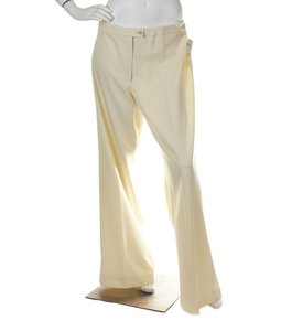 Carolina Herrera Cream Wool Pants