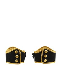 Prada Prada, Black, Gold, Runway, Ankle, Cuffs, 74175