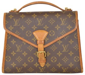 Louis Vuitton Monogram Messenger Belair Handbag Satchel in Brown