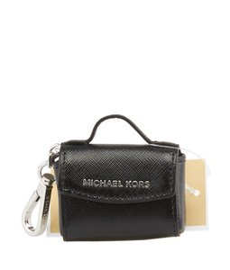 Michael Kors Michael Kors, Ava, Black, Saffiano, Leather, Key Ring