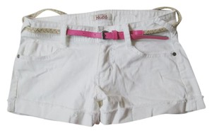 Mudd New Summer Casual Denim Cuffed Shorts White