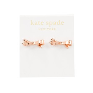Kate Spade Love Notes Bow Stud Earrings, Rose Gold