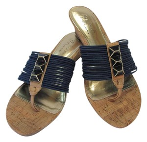 Nina Size 7.50 M Leather Soles Very Good Conditon Blue, Neutral, Sandals