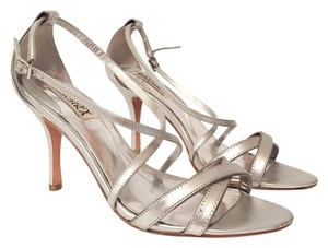 Badgley Mischka Holiday Coctail Silver Sandals
