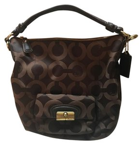 Coach Brown Tote Canvas Hobo Bag
