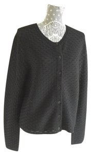 Tory Burch Cardigan Black Sweater