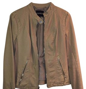 Express Beige Leather Jacket