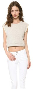 Elizabeth and James Sweatshirt Cotton Crop Sweatshirt