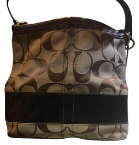 Coach Tote in Beige and Brown