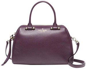 Kate Spade Charles Street Small Brantley Leather 098689949277 Wkru3297 Satchel in Soft Aubergine