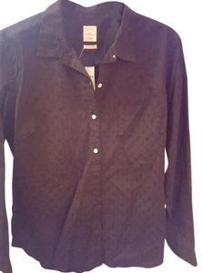 Gap Longsleeve Blouse Button Down Shirt Black