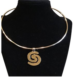 Sterling Silver Ying And Yang Pendant And Choker.