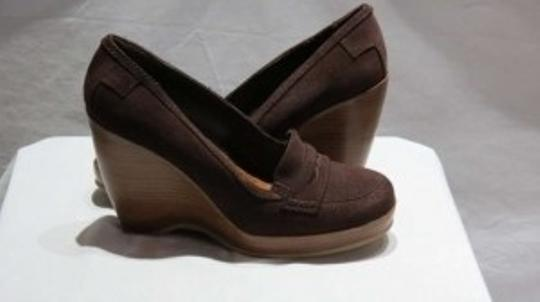 On Your Feet Dark Brown Wedges