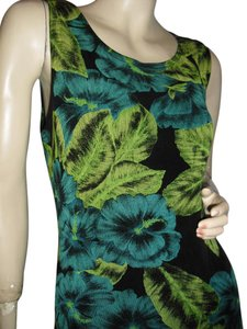Ronni Nicole short dress leaf green, blue, black on Tradesy