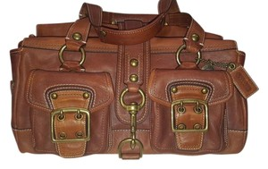 Coach Legacy Leather Satchel in Whiskey