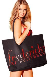 Frederick's of Hollywood Hw Gift Tote in Black/Red Glitter