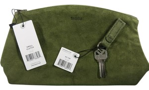 BAGGU Suede New With Tags Green Olive Clutch