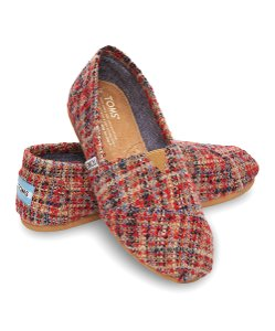 TOMS Canvas Redboucle Slipon Red/ Multi Flats