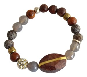 Silpada Silpada Sterling Silver Wooden Bling Stretch Bracelet