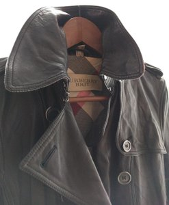 Burberry Lambskin Leather Trench Trench Coat
