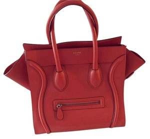 Céline Tote in Vermillion Orange