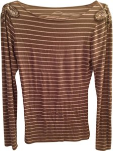 INC International Concepts Sequin Striped Top Striped Sequin