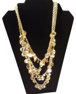 Very elegant golden necklace wear out in the evenings
