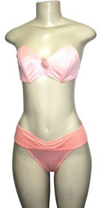 Le FOGLIE Le FOGLIE WOMEN'S TWO PIECE Strapless BIKINI SWIMSUIT SET PEACH ***Made in Italy***