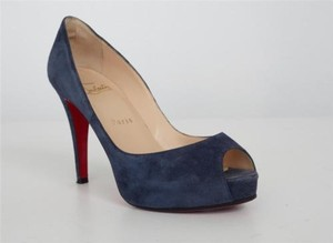 Christian Louboutin Navy Suede Blue Pumps