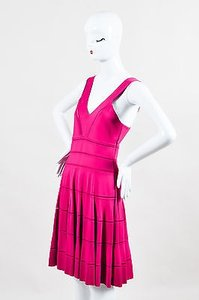 Dior Christian Knit Sleeveless Pleated A Line Dress