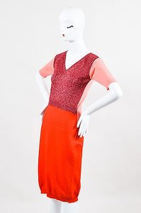 Louis Vuitton Knit Back Cut Out Ss Fitted Dress
