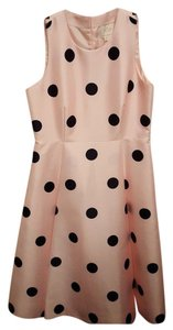 Kate Spade short dress Baby doll pink with black polka dots Dot on Tradesy