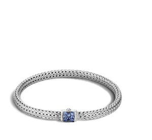 John Hardy classic chain bracelet with blue sapphires